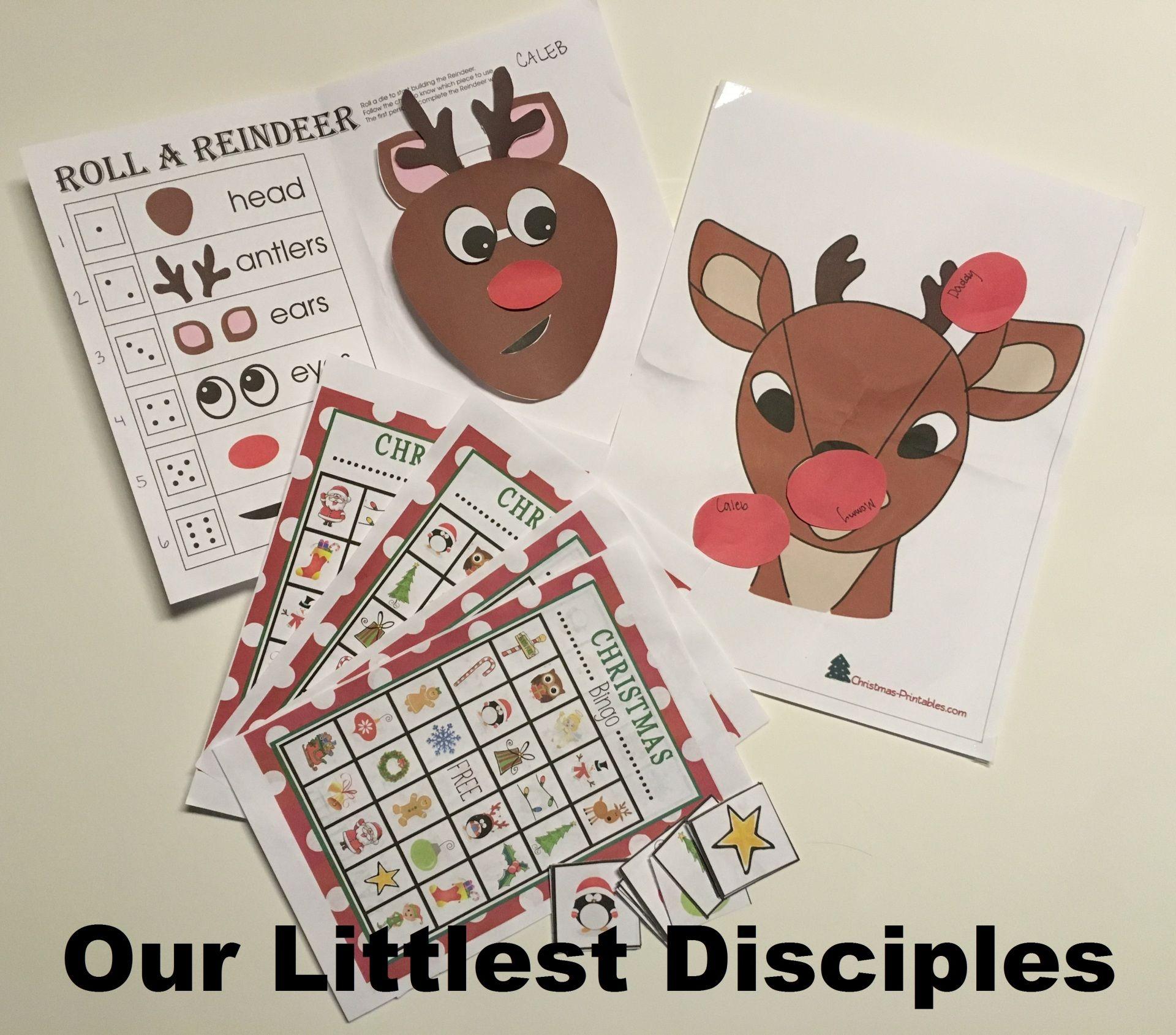 Advent Activity Reindeer Christmas Children S Games Free