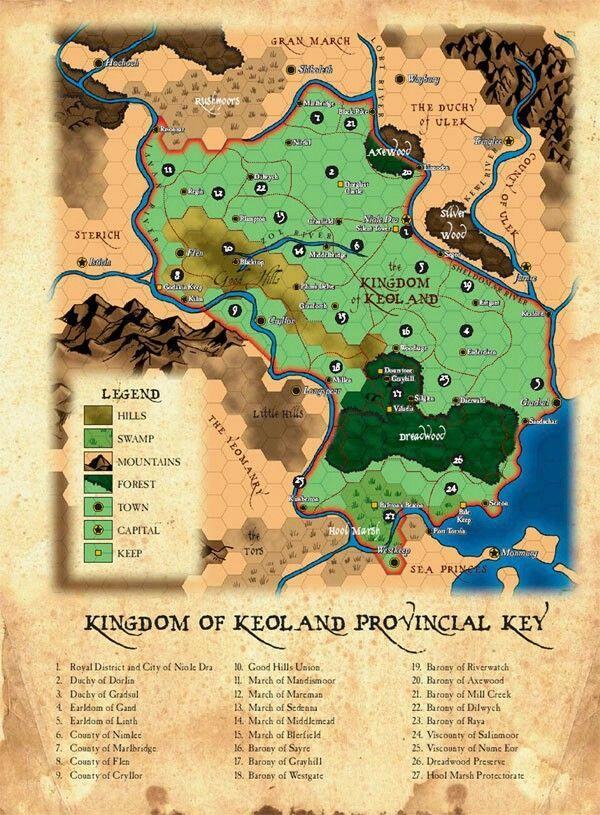 Keoland | World of Greyhawk maps | Pinterest