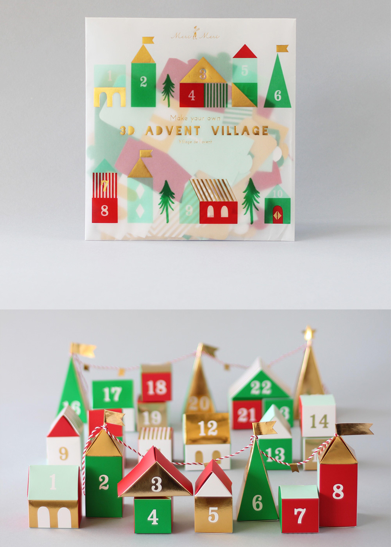 3D Advent Village Calendar | Christmas villages, Advent calendars and 3d