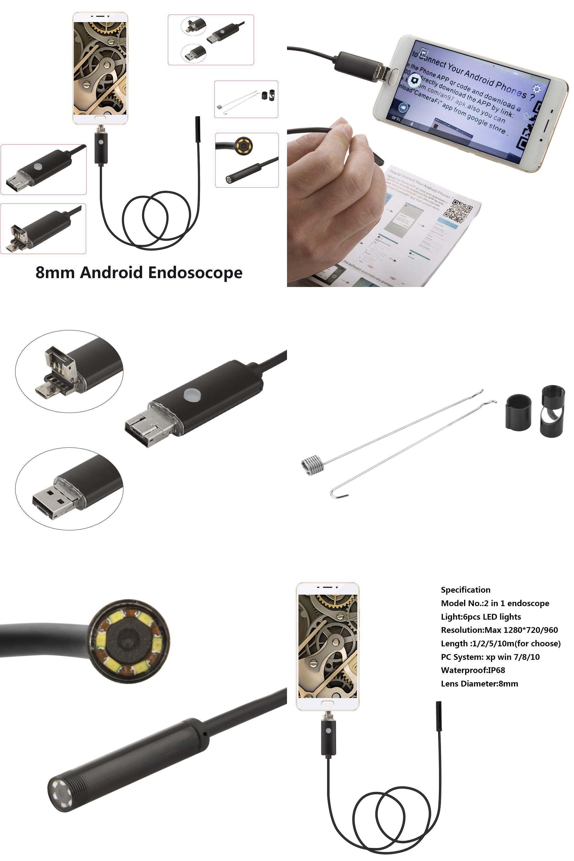 Visit to Buy] Endoskop 8mm 1M 2M 5M USB Android Endoscope Camera