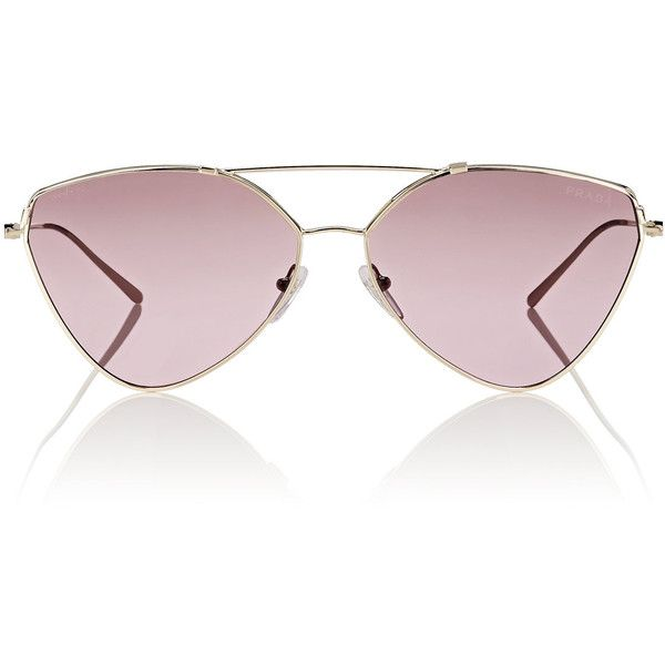 54a388b61e8 Prada Women s Aviator Sunglasses ( 400) ❤ liked on Polyvore featuring  accessories