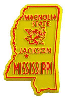 Mississippi Jackson Fridge Magnet