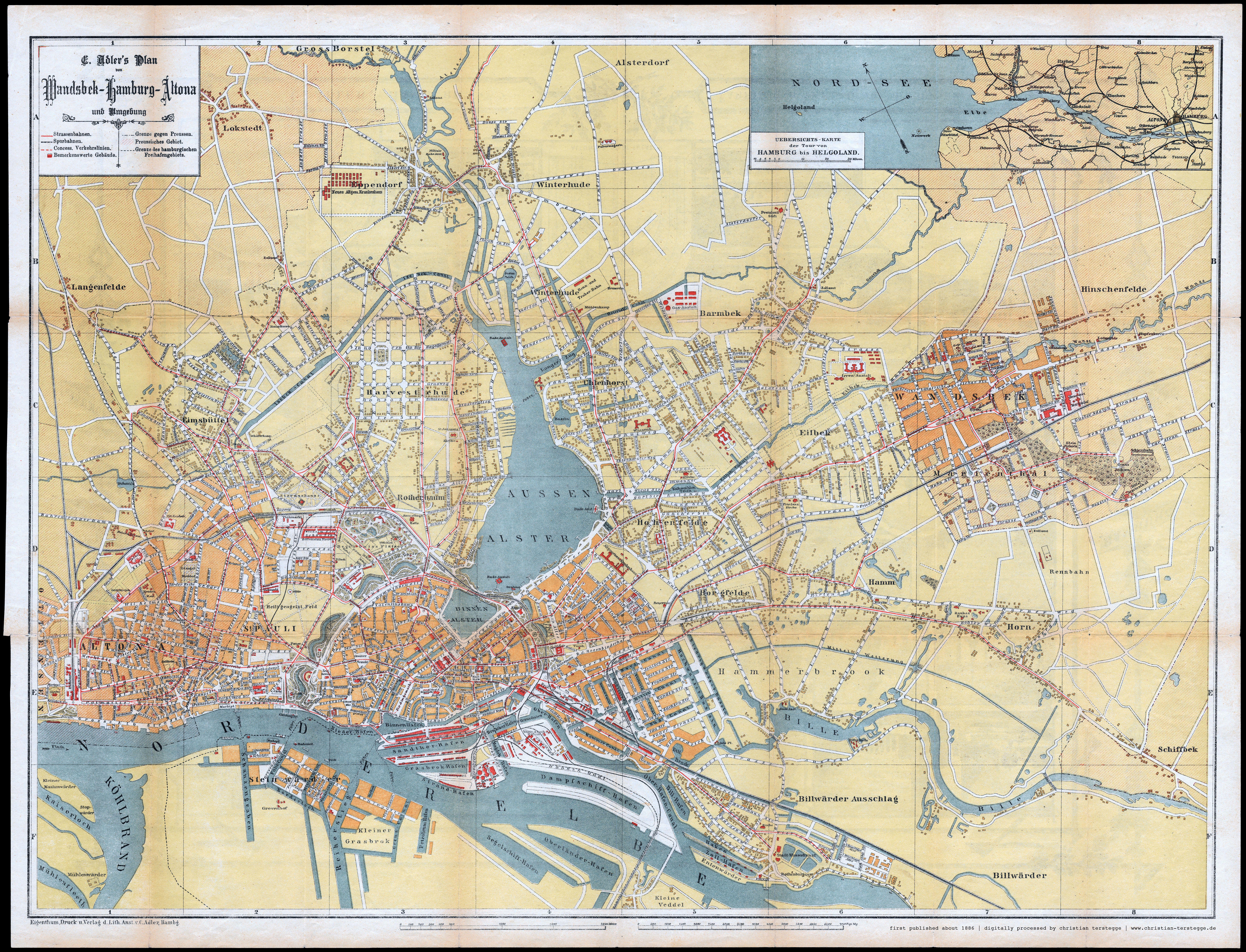 Karte Hamburg Und Umgebung 1868 Hamburg Altona Hamburg