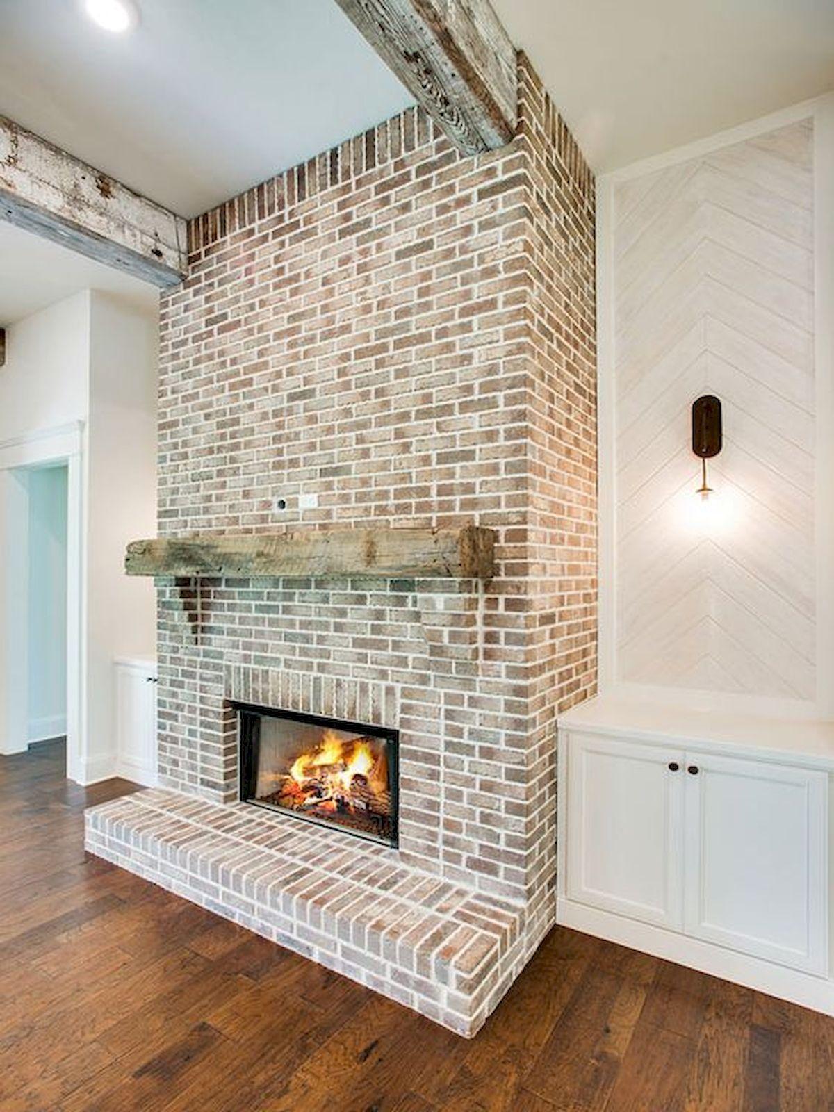 33 Farmhouse Fireplace Decor Ideas And