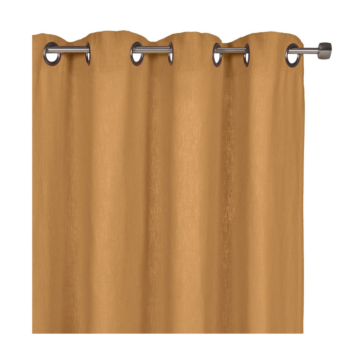 rideau à oeillets en lin lavé beige nèfle 140x280cm