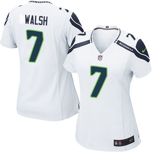 Women s Nike Seattle Seahawks  7 Blair Walsh Game White NFL Jersey nfl  jersey number 60 cb9234279