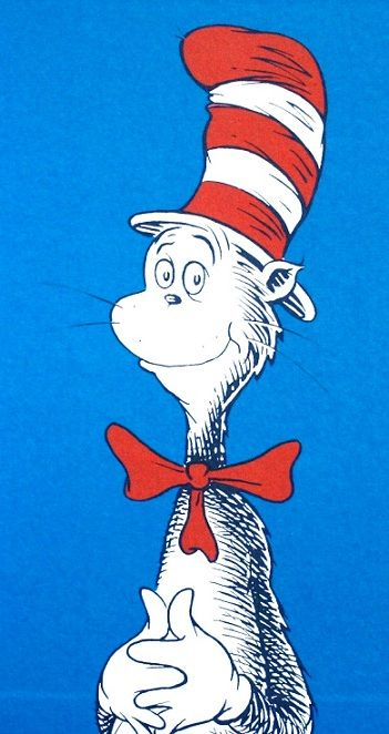 The Cat In The Hat Reading Read In Both English And Spanish To Highlight Language Enrichment Program Vintage Illustration Cartoon Cartoon Cat