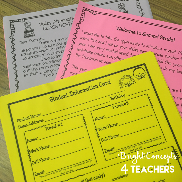 EDITABLE Back To School Forms includes: newsletter templates, class ...