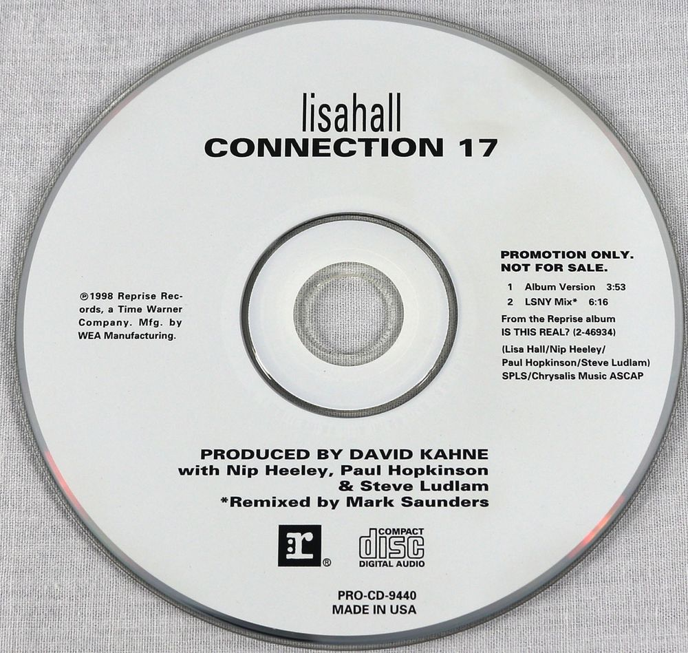 Lisahall 1997 Connection 17 Promo Maxi Single CD Indie Rock Music ...
