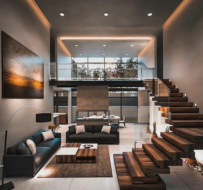 Una casa grande, con un giardino, terrazzi, interni lussuosi, tanto spazio e soprattutto una bella piscina sembra il posto perfetto dove. Modern Loft Progettazione Interni Casa Case Di Design Case Di Lusso