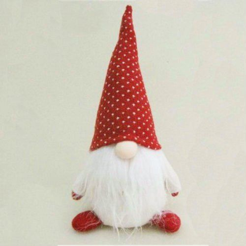 "Amazon.com - 10"" Red and White ""Hank"" Chubby Sitting Santa Gnome Plush Table Top Christmas Figure -"