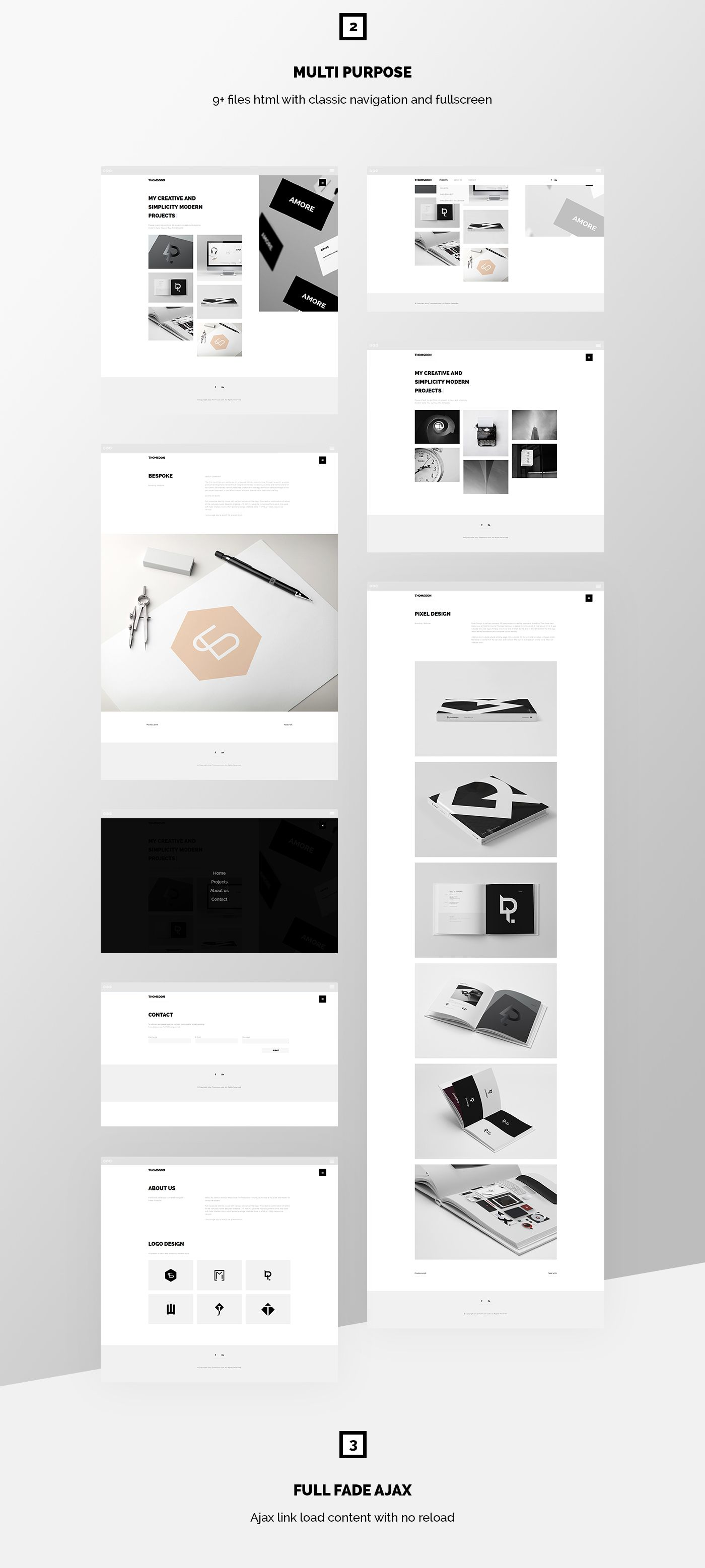 Free Responsive Portfolio White Clean Template Html And Css