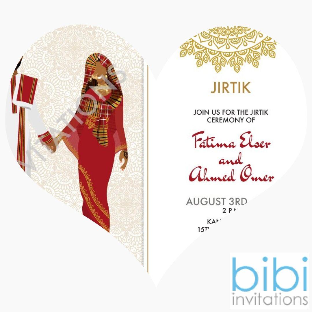 Ana behibek sudan traditional wedding invitation in 2020