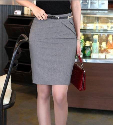 c9567f12f Modelos de falda con pretina alta | polleras | Falda modelo, Faldas ...