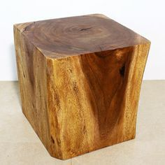 Image result for solid wood end table The Shophouse Pinterest