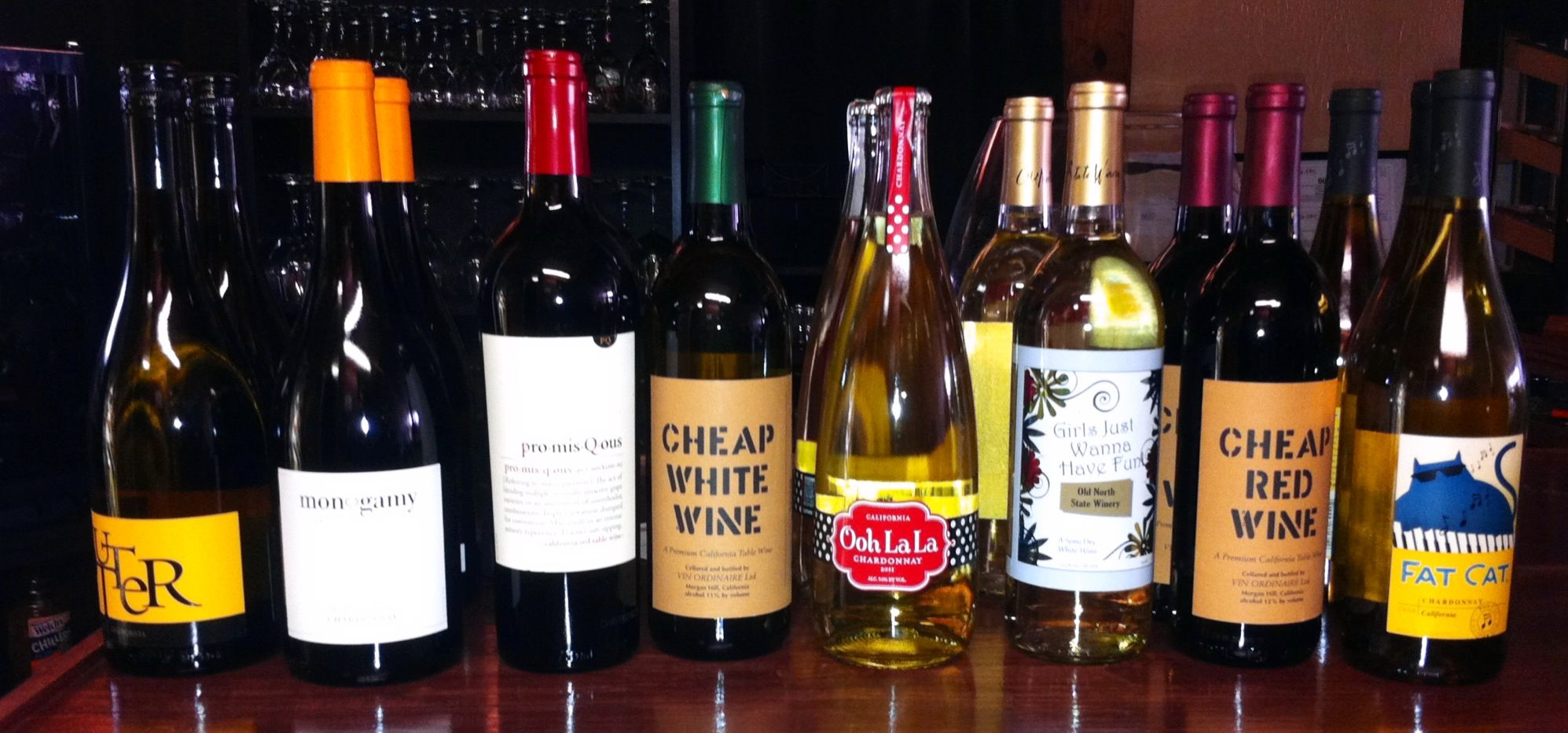 Fun wines at Rumour Has It a Wine Bar in downtown