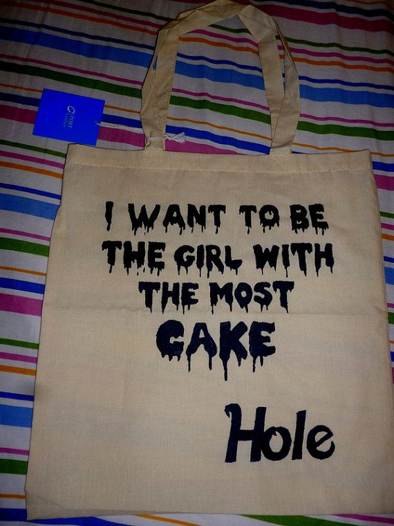 Courtney Love Girl With The Most Cake Tote Bag For Sale On Etsy