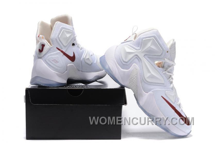 Nike LeBron 13 White/Wine PE Mens Basketball Shoes
