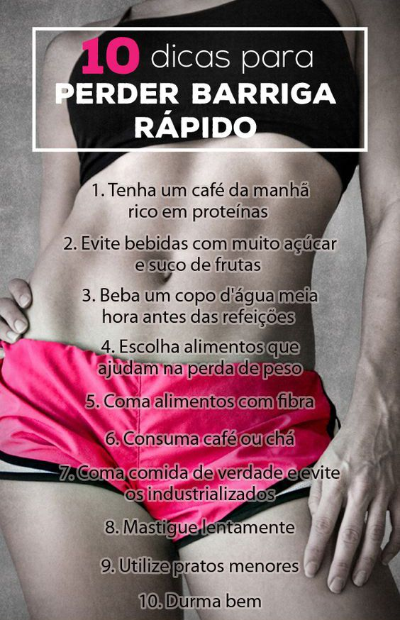 receita de dieta para perder peso e barriga