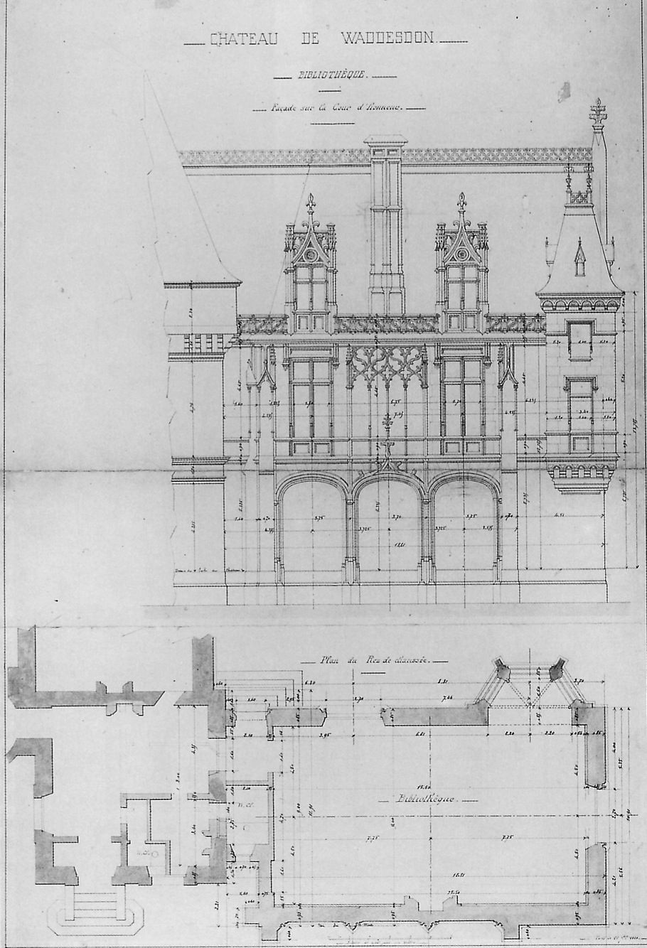 Manor House Drawing: Waddesdon. -- The Design For The Morning Room Addition