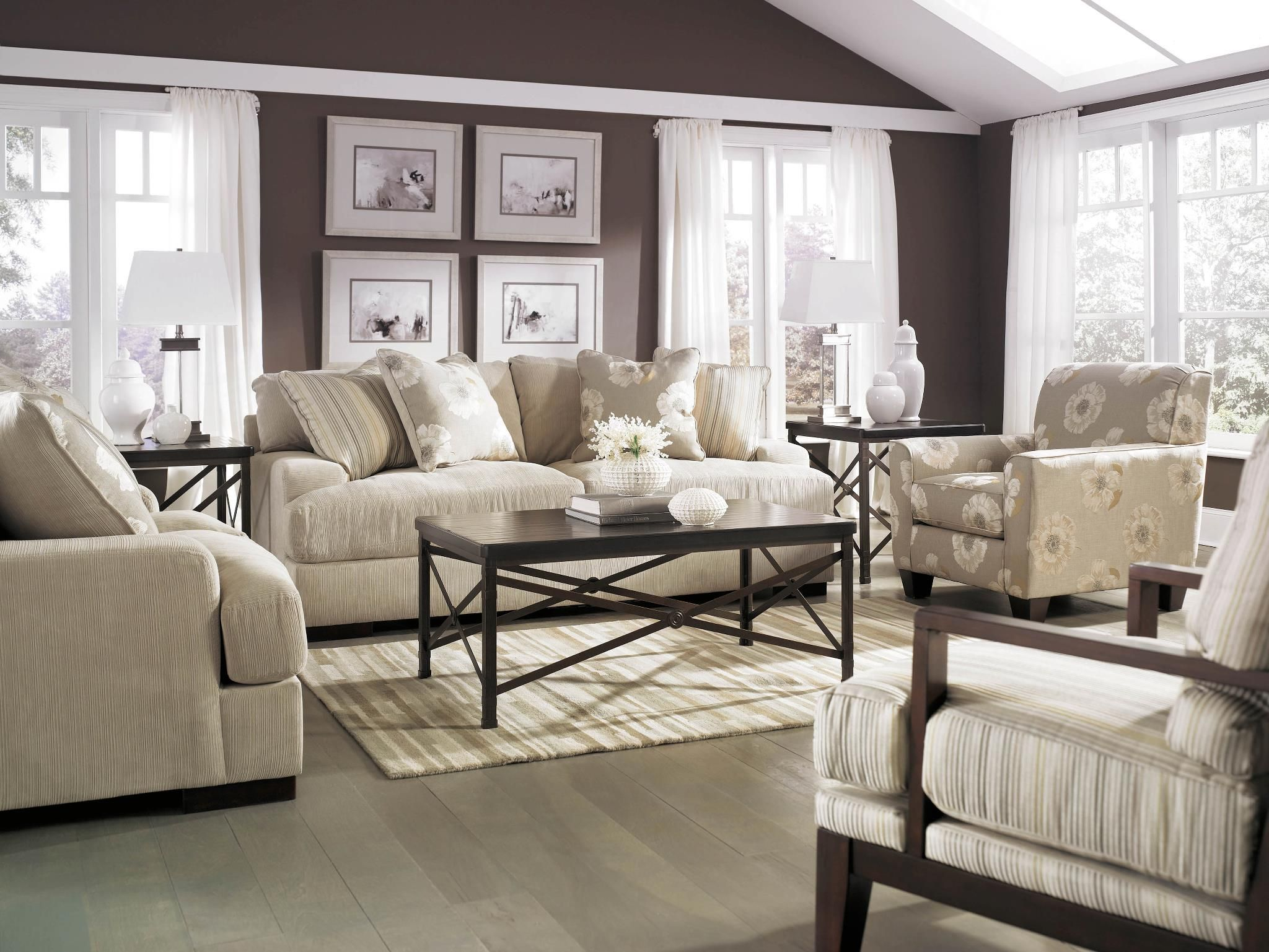 This Stunning Ashley Furniture HomeStore #sofa Has Beautiful Set Back Arms  And Plush Seating