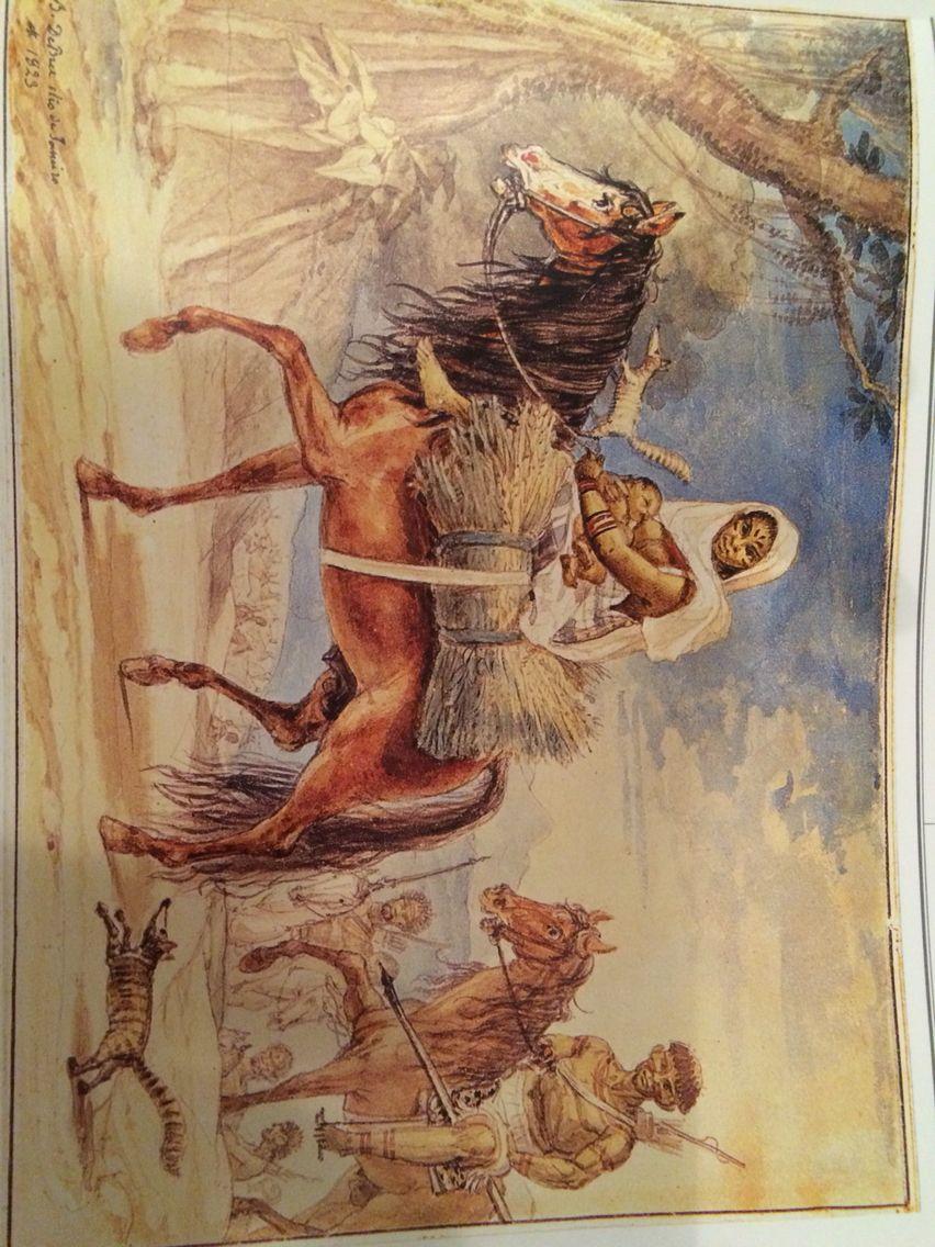 Indios guaicurus - Debret e o Brasil p131 1823