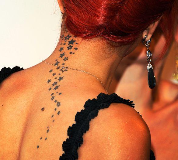 15 Awesome Celebrity Tattoos Celebrity Tattoos Scalp Tattoo Nape Tattoo