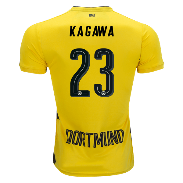 Borussia Dortmund 2017 18 Home Men Soccer Jersey KAGAWA  23 ... 6658b33b49c71