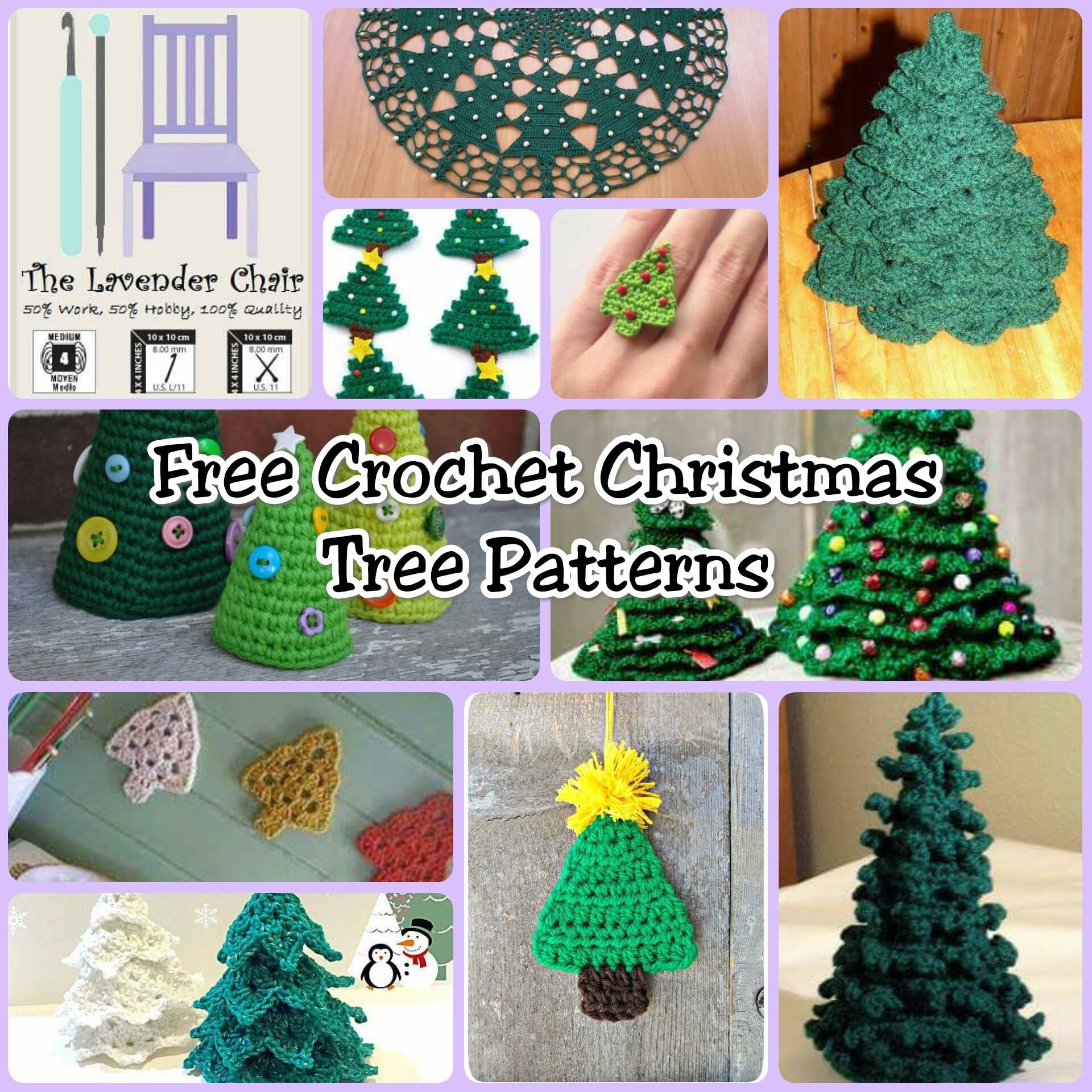 Free Crochet Christmas Tree Patterns - The Lavender Chair | My hobby ...