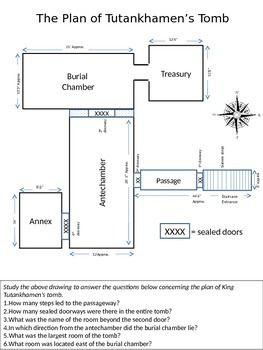King Tutankhamun Tutankhamon Tomb Diagram With Questions Tutankhamun Tomb This Or That Questions