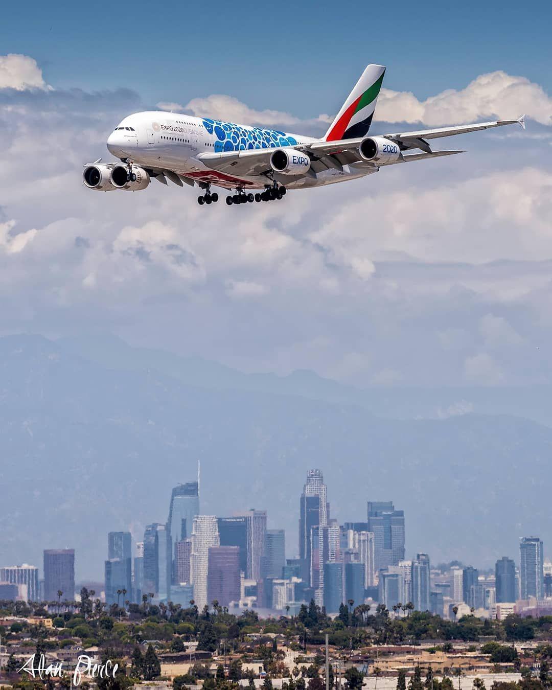 Emirates A6 Eoc A380 800 Lax Los Angeles Emirates A380 Bigplanes Los Angeles International Airport Los Angeles Emirates