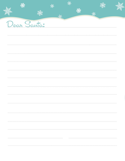 Freebie FREE Letter to Santa Templates – Notes To or From Santa