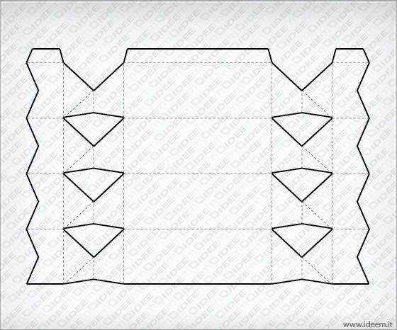 Candy shaped box vector template free :: Ideem - Idee Montabili ...