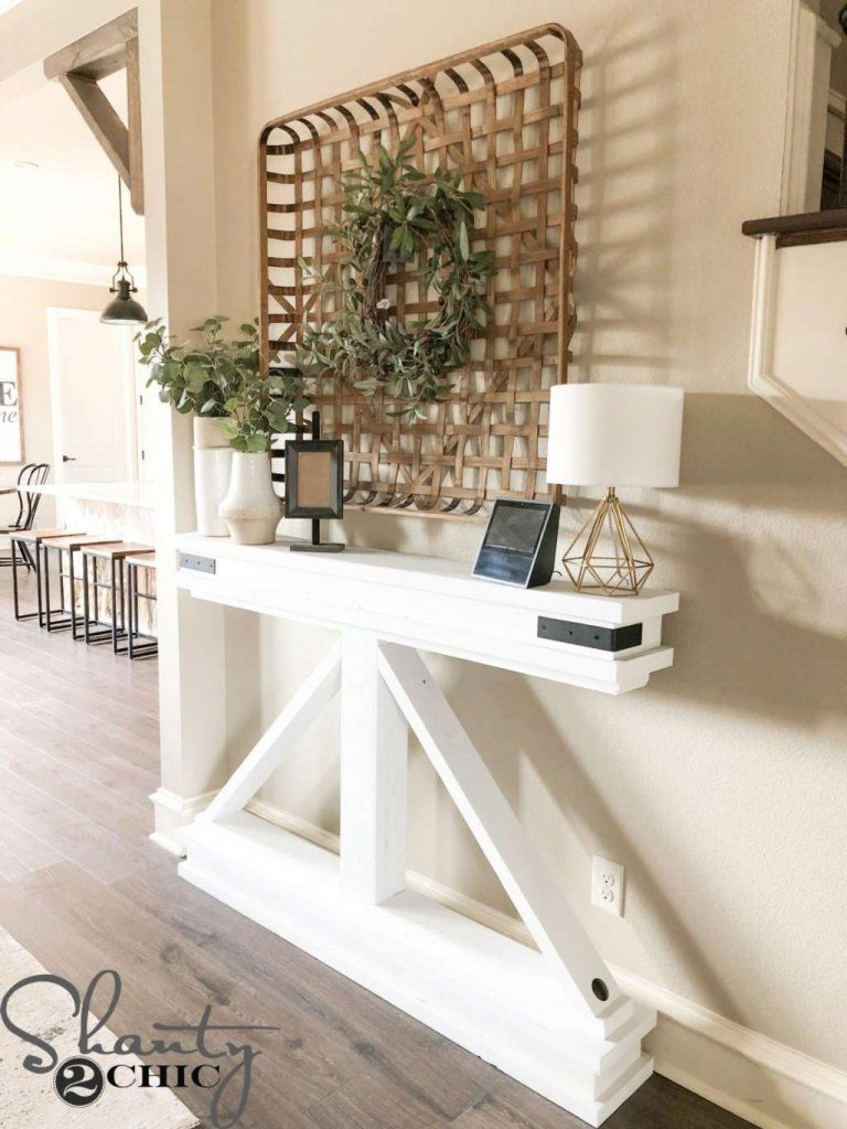 DIY Console Table Ideas in 2020 Narrow console table