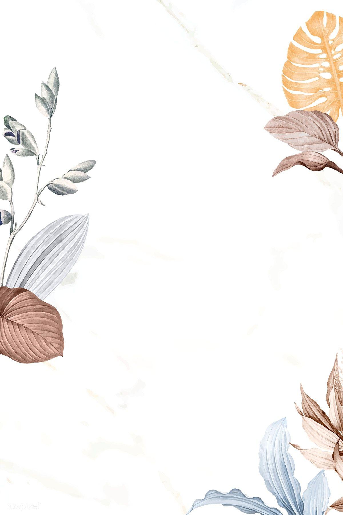 Tropical leafy frame design vector | premium image by rawpixel.com / sasi #vector #vectoart #digitalpainting #digitalartist #garphicdesign #sketch #digitaldrawing #doodle #illustrator #digitalillustration #modernart #leaves #tropical