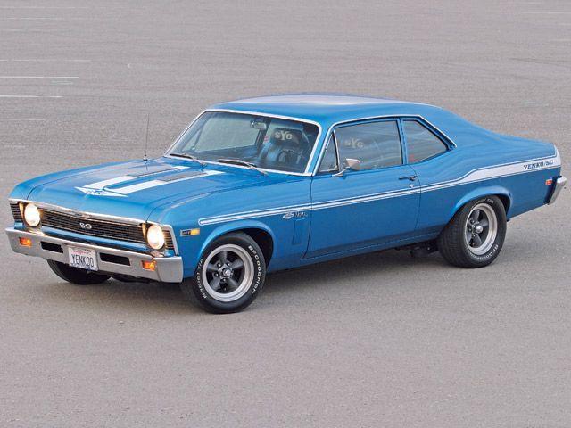 1969 Chevrolet Nova Yenko SYC clone blue with white stripes