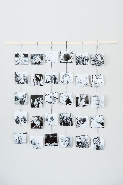 DIY Family Photo Wall Hanging | Photo wall, DIY ideas and Ornament