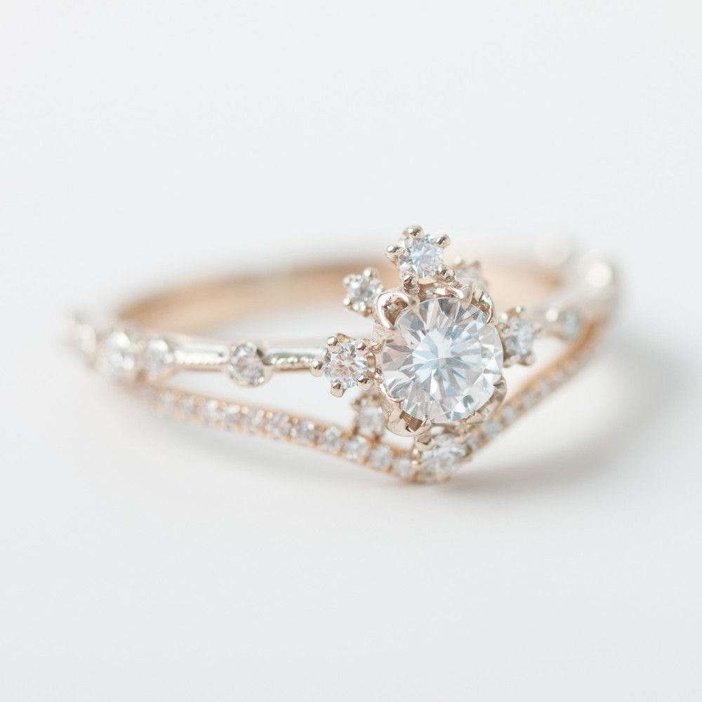 Beautiful, Snowflake Ring And Ring Engagement