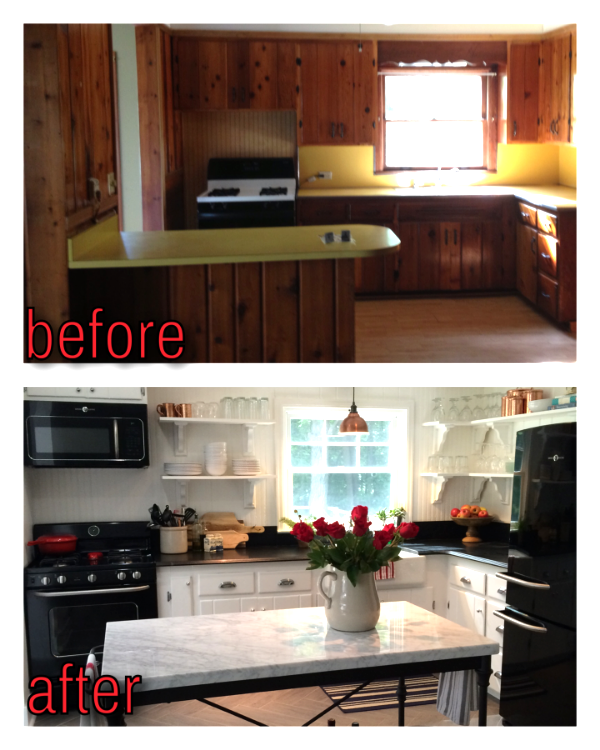 Kitchen Renovation: Updating Knotty Pine Cabinets ...