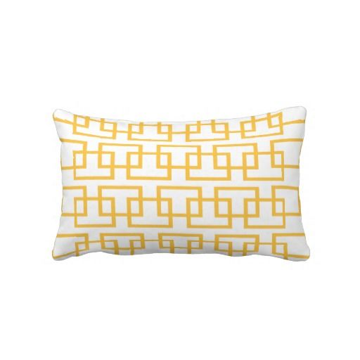 Yellow Chain Link American MoJo Throw Pillow