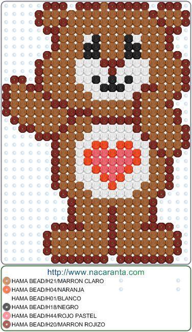 Osos Amorosos 6 En Hama Beads Perler Bead Patterns