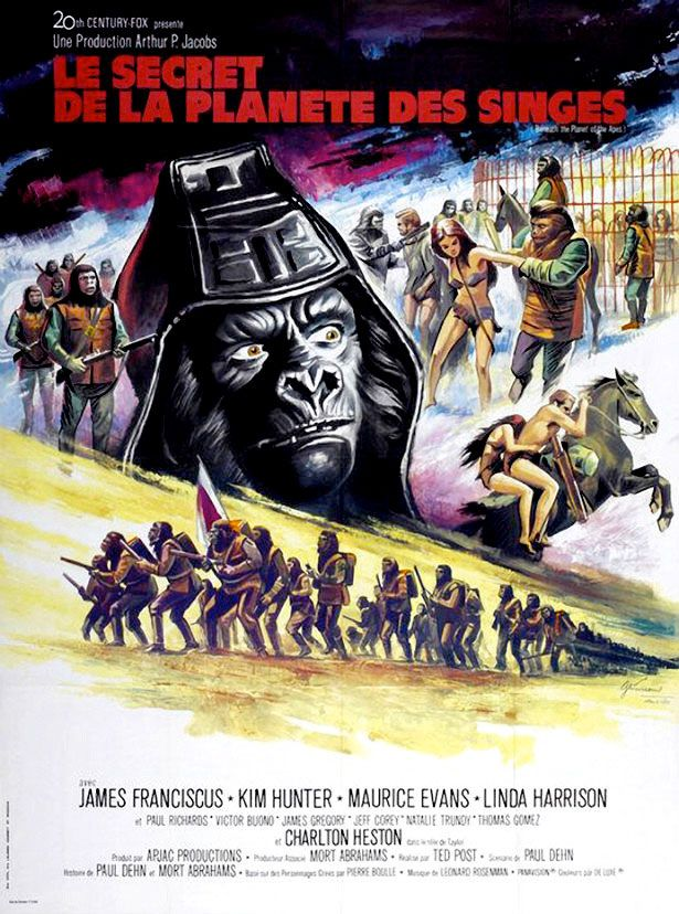 Super Freaky Movie Posters Of The 70 S Planet Of The Apes Movie Posters Vintage French Poster