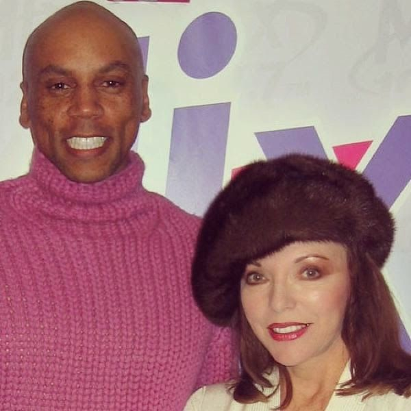 Joan meets up with drag legend Rupaul in this super shot..