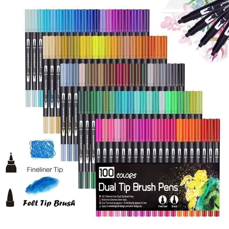 Hand Paint Write Animation 10 PCS Set Black Fine Liner Pen for Graphics Design