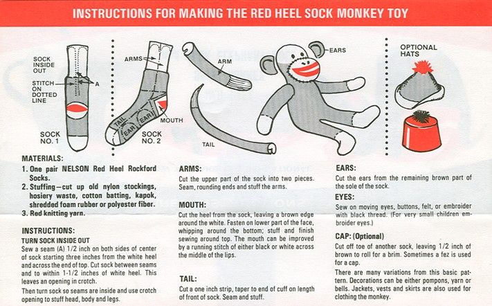 Rockford Sock Monkey | Monkey pattern, Monkey and 1960s