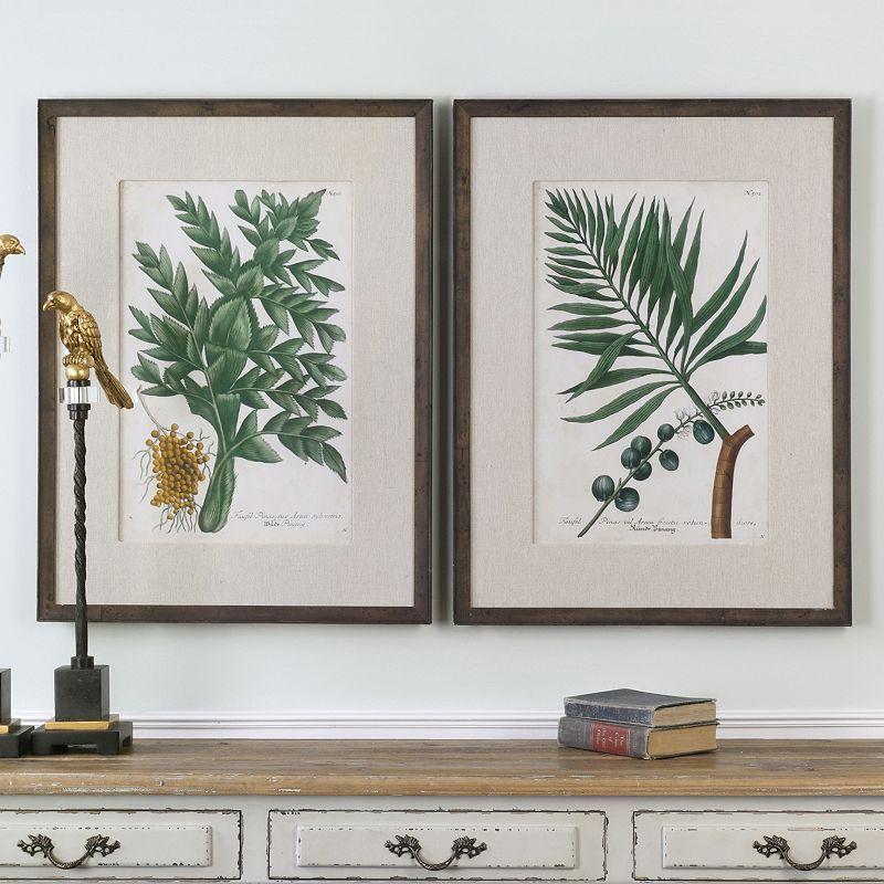 Vintage Tropicals Framed Wall Art 2-piece Set, Multicolor