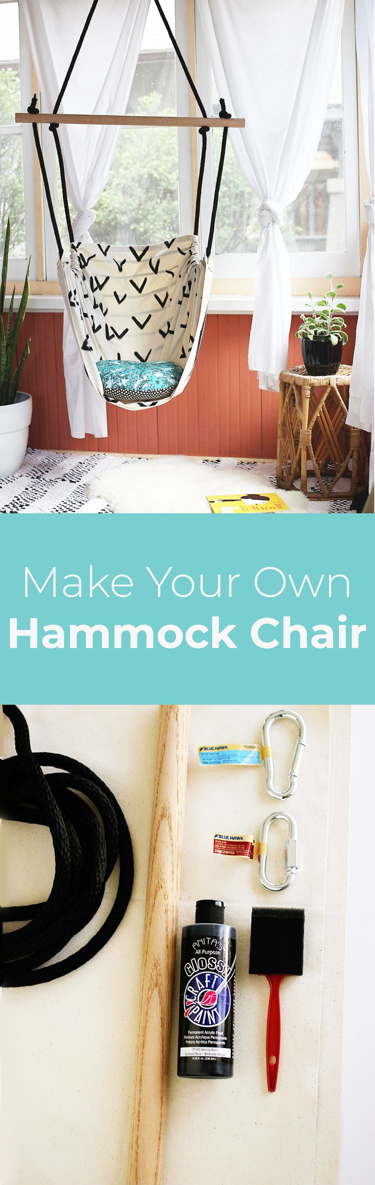 diy projects you must have for your new apartment hammock chair