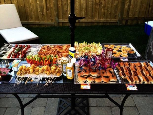 Outdoor Party Sliders Kabobs Bbq Party Digs