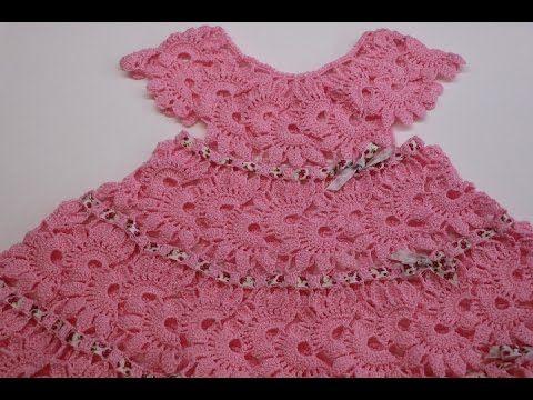 Vestido Para Niña Tejido Crochet Parte 1 De 2 Vestiditos