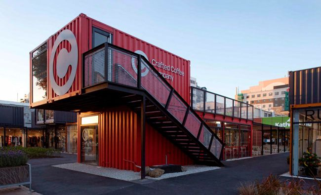 shipping container coffee shops  Coffee Shop Design  Pinterest